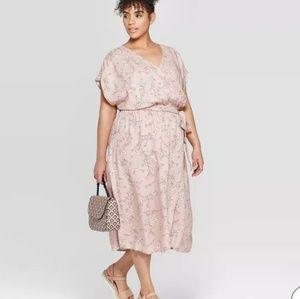 Ava & Viv faux wrap short sleeve dress, NWT